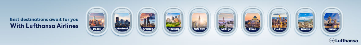Best destinations await for you with Lufthansa Airlines